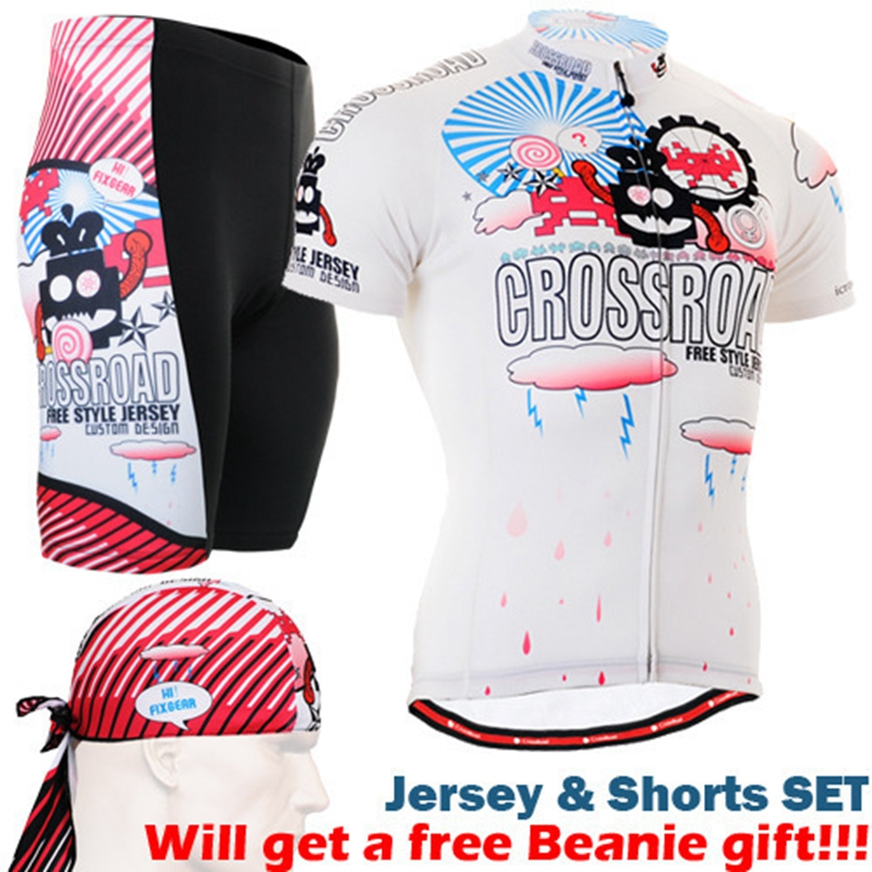 цены 2017 cycling sets short sleeve with bike printed 3d padded cycling shorts+full printing short sleeve jerseys