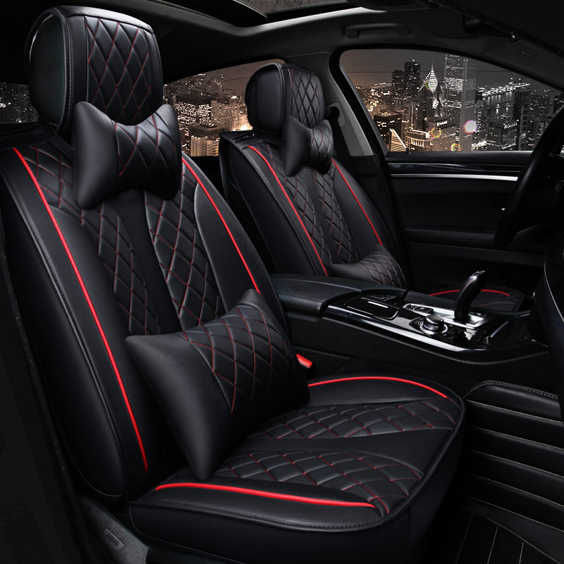 universal car seat covers leather car seat cover set automobiles 5 seats cushion cover car. Black Bedroom Furniture Sets. Home Design Ideas