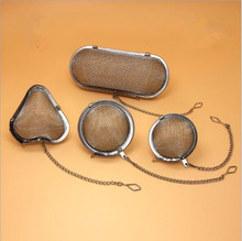 1PC Silver Tea Strainer Reusable Stainless Mesh Herbal Ball Spice Teakettle Locking Filter Infuser PD 003