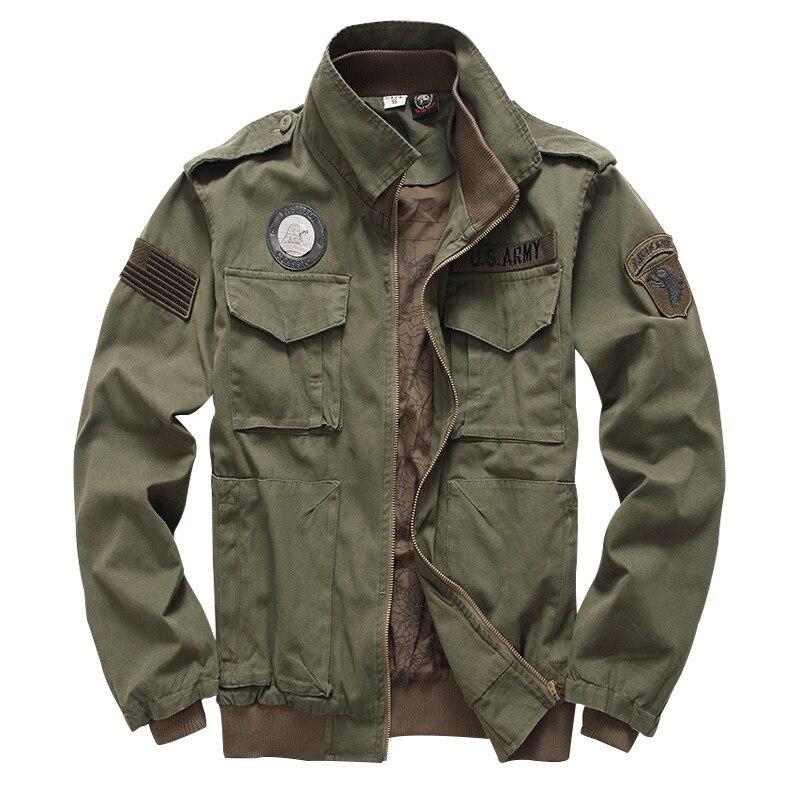 Chaqueta táctica para hombre 101 uniforme militar aéreo ejército estilo invierno vuelo 2019 Ma1 abrigo americano militar ropa hombre verde-in Chaquetas from Ropa de hombre    3