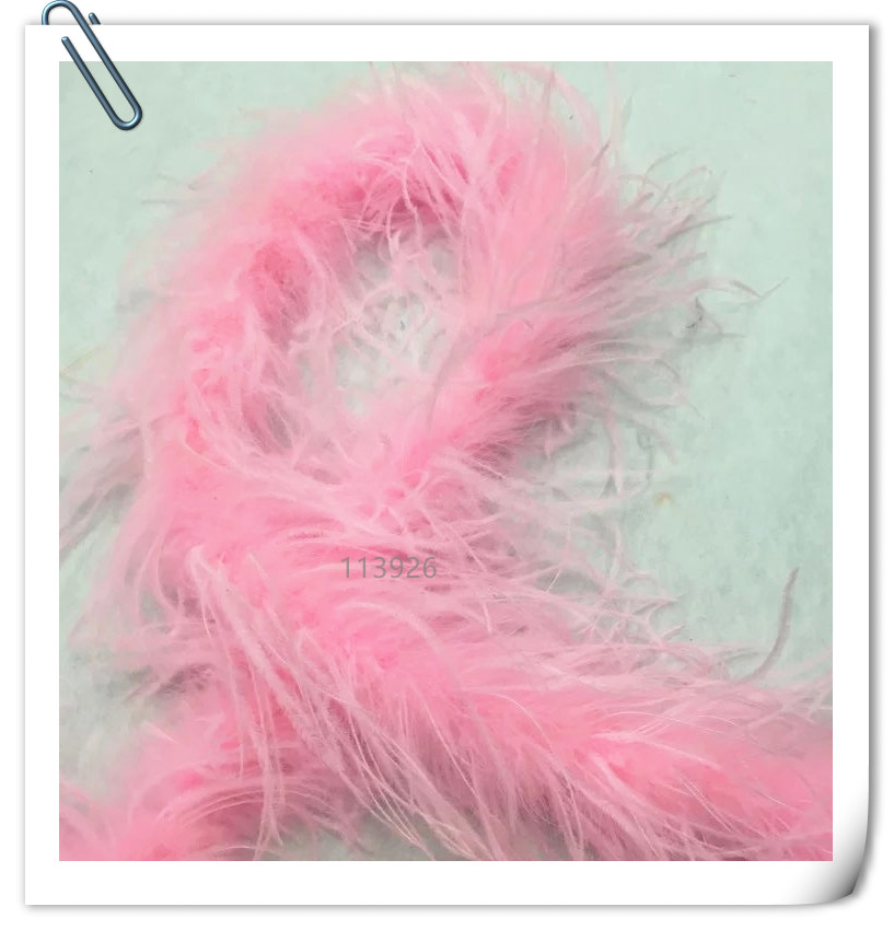 EMS free!2meters Long pink OSTRICH FEATHER BOA ostrich skirt natural feather plume for wedding decoration indian headdress