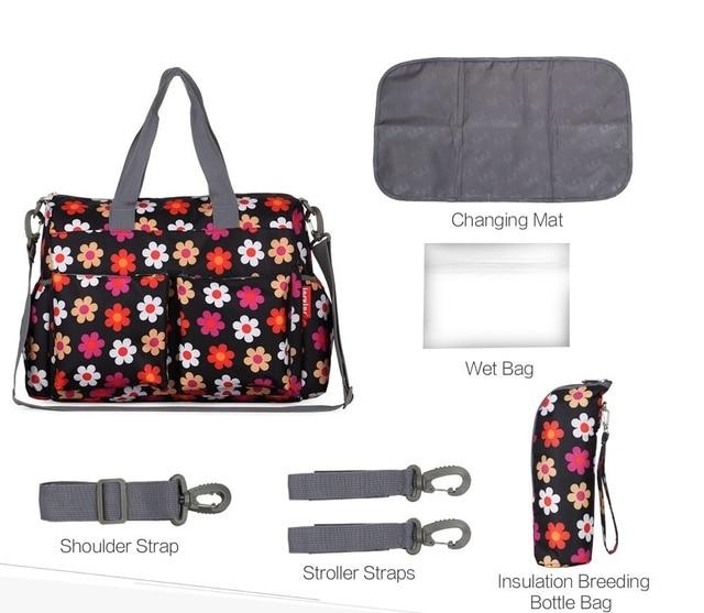 Insular Brand Baby Nappy Bags Diaper Bag Mother Shoulder Bag Fashion Maternity Mummy Handbag Waterproof Baby Stroller Bag Nappy Changing