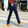 Primavera Otoño moda masculina casual de negocios pantalones encuadre de cuerpo entero pantalones de pana elástica de calidad superior para los hombres