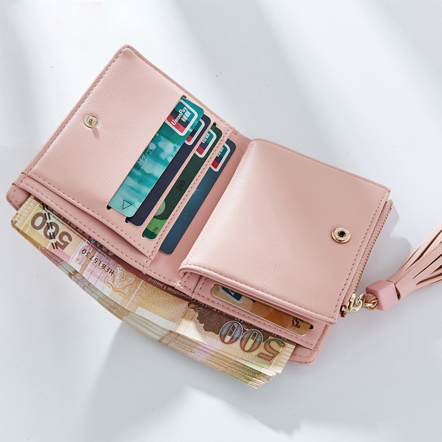 Cute Small Square Leather Women's Wallet