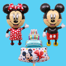 Medium Mickey mouse Minnie stand aluminium film air ball balloons birthday party decoration