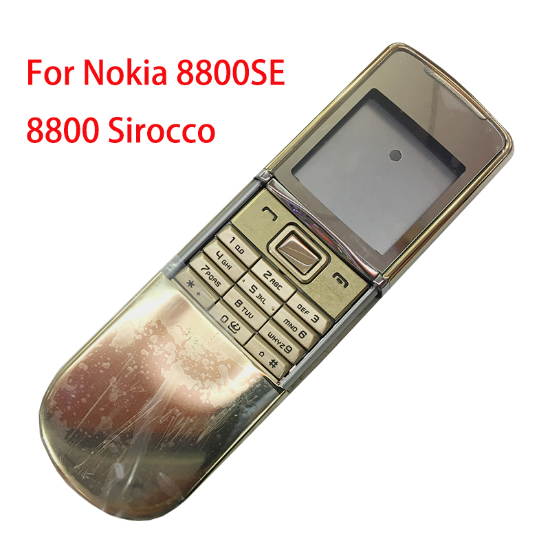 ZUGZUC New Metal For Nokia 8800 Sirocco 8800SE Full Housing Complete Mobile Phone Housing Russian / English Keypad