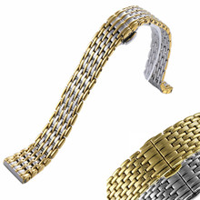Ultra-thin High quality Men/Women Stainless Stell Watch Strap Band With Deployment Button 12 14 16 18 20 22mm Watchband все цены