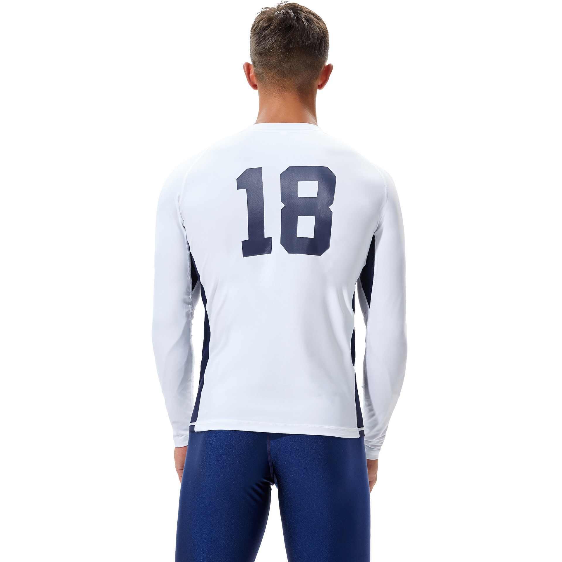 TSMC UV להגן על גלישה הפריחה משמר גברים ארוך שרוול לשחות חולצות גרביונים שמש הגנה לגלוש T חולצות שנורקלינג בגדי ים מהיר יבש