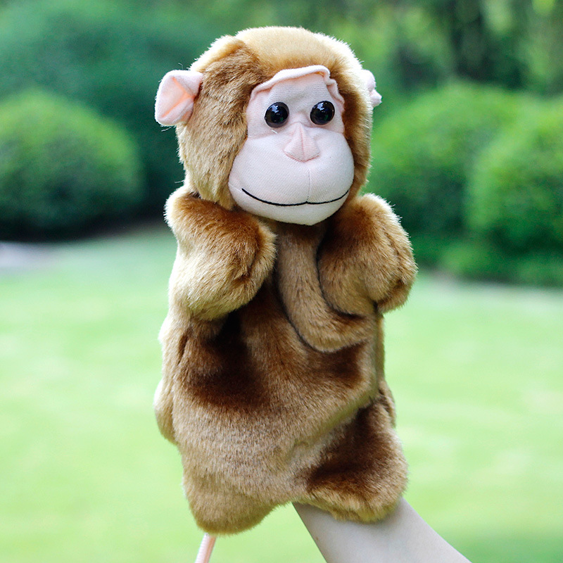 Hand-Puppets-Plush-Puppets-Elephant-Cow-Cat-Mouse-Monkey-Plush-Doll-Children-Educational-Toys-Brinquedo-Marionetes-Fantoche-3