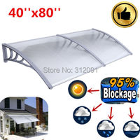 AU New Arriaval 1M X2m Polycarbonate Outdoor DIY Window Awning Balcony Patio Cover