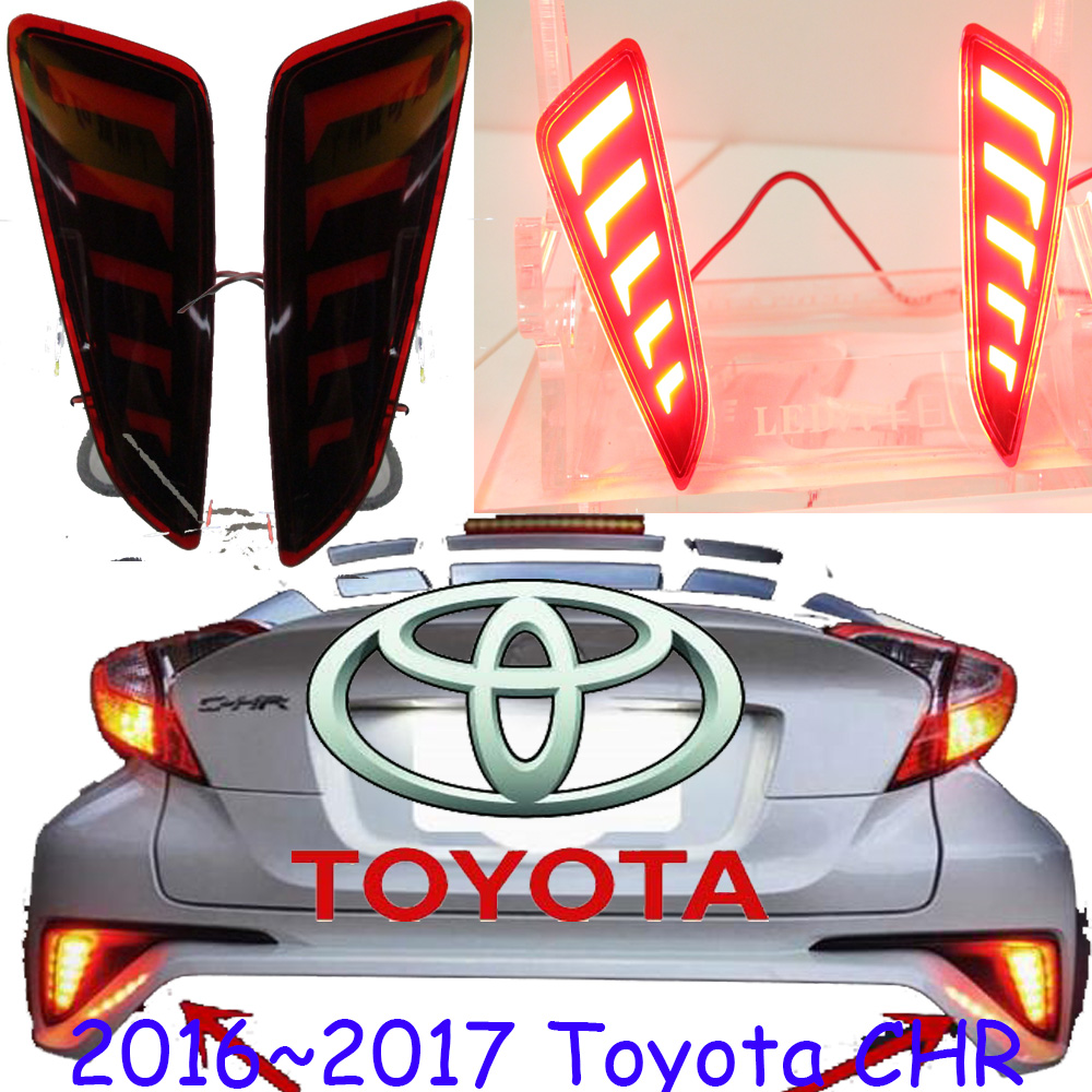 CHR taillight,2016~2018;Free ship!LED,CHR rear light,CHR fog light;wish,Carmy,prado,camry,CH-R,CH R,C HR,CHR tail light