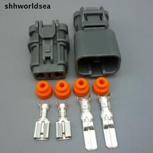 Shhworldsea 5/30/100 комплекты комплект 6,3 мм авто 2 pin Электрический штекер Женский Мужской кабель штыревой разъем 7123-6423-30