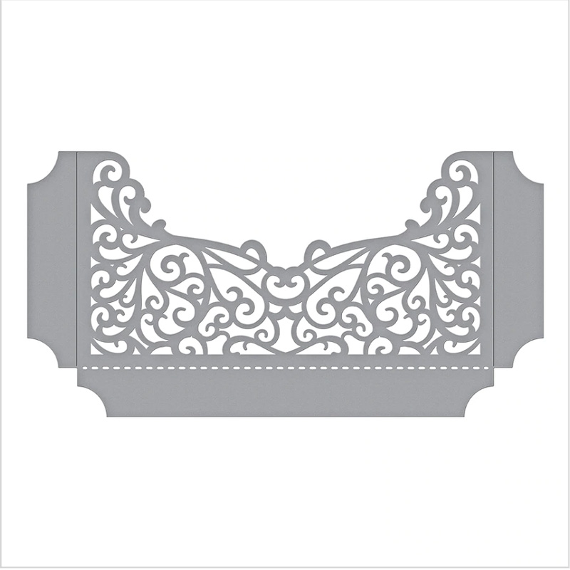 Hollow Flower Radian Border Metal Cutting Dies for DIY Scrapbooking Photo Album Embossing Paper Cards Crafts Supplies 2019 New in Cutting Dies from Home Garden