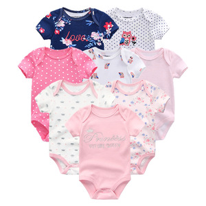 Image 4 - 8 PCS/lot summer short sleeve baby boy bodysuit baby boy jumpsuit set ropa bebe baby boy clothes