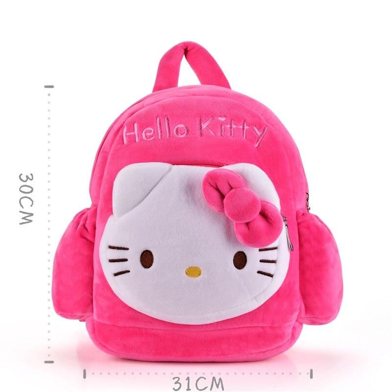 2843a464bec7 ... KAWAII Plush 2 Layer Hello Kitty Backpacks Kindergarten School