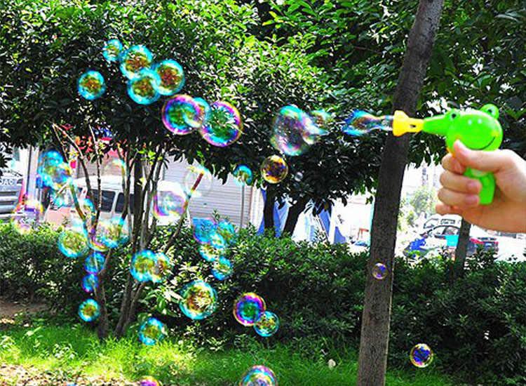 Детские дующие мыльные пузыри животное ручной пистолет для пузырей милый мультфильм воды ребенок открытый игрушки пистолет воздуходувка цвета случайный