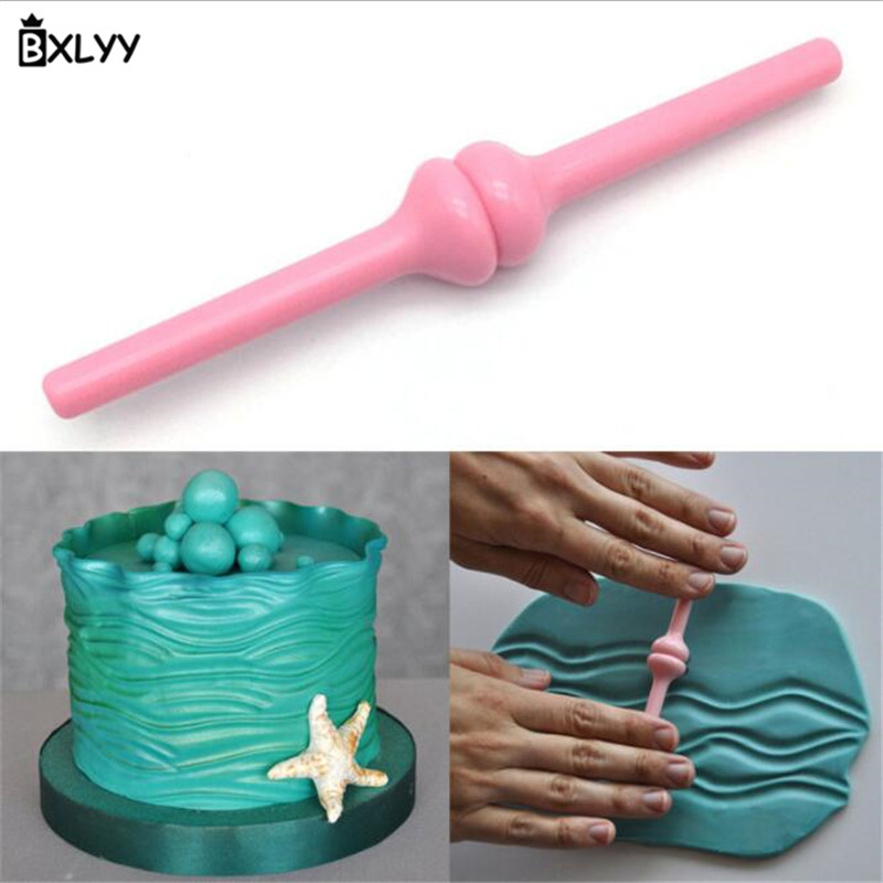 BXLYY New Year Wave Mold DIY Fondant Cake Printing Cutting Stamping Height Adjustable Cream Screed Scraper.7z
