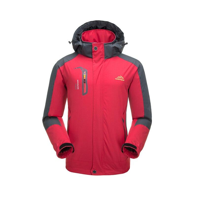 Waterproof Jacket Men Outdoor Camping Ski Coat Hooded Softshell Mountaineer Trekking Travel Hiking Windproof Jackets Windbreaker цена