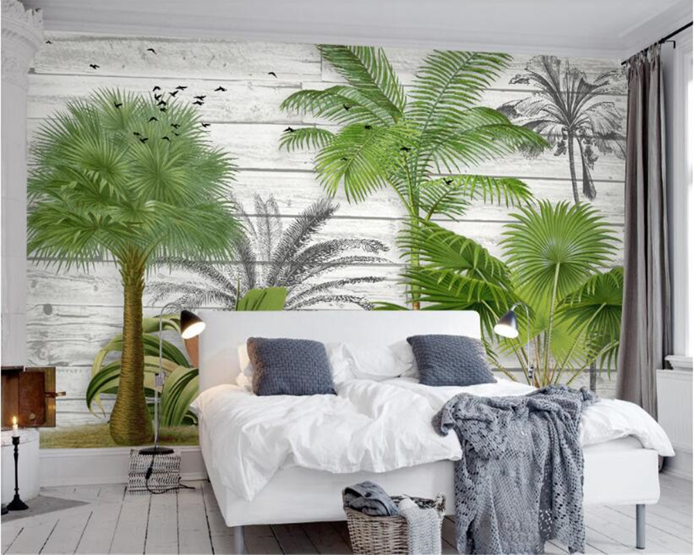 beibehang new Modern Three-dimensional Fashion Personality Wall paper Nordic Wood Greenery Simple Background photo wallpaper