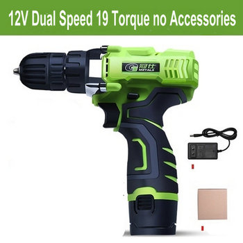 12V 19 Torque Dual Speed Mini Cordless Electric Screwdriver Rechargeable Lithium-ion Battery Electric Drill Power Tools