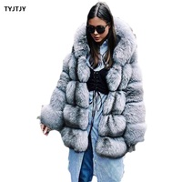 Women Brand Winter Fur Coat Women Long Faux Fox Fur Coats Fur Luxury Women Faux Jacket High Quality Faux Fur Coat Jacket Women