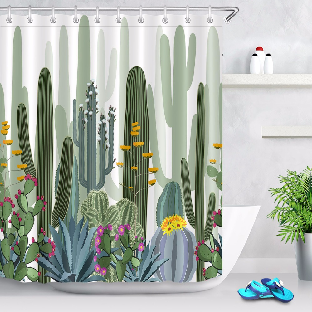 bathroom mat waterproof fabric tropical