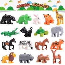 Zoo Model Building Blocks Original big Particles Bricks accessory Toys Compatible with large Duplo Animal deer panda Elephant