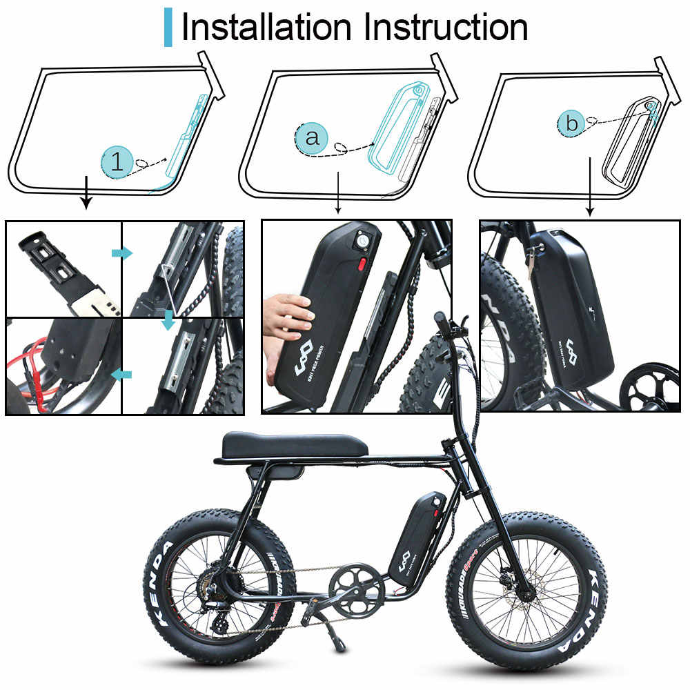 52V 48V 13Ah 750W 1000W Hailong Lithium ion Ebike Battery Electric Bicycle USB