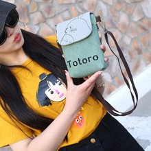a084827750 Hot Cartoon filles mignon Totoro sac à bandoulière dessin animé ours  porte-monnaie Mini Messenger