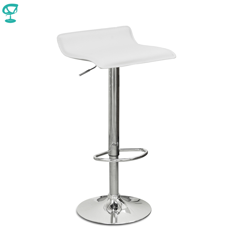 94525 Barneo N-38 Leather Kitchen Breakfast Bar Stool Swivel Bar Chair White Brown Free Shipping In Russia