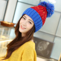 Fashion warm autumn winter knitted hat women stripes Skullies Beanies South Korean version of the hat 5 colors Elegant