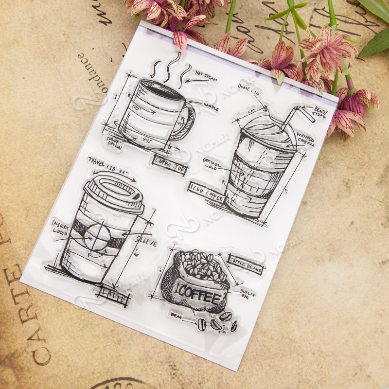 Drink Transparent Clear Silicone Stamp/Seal for DIY scrapbooking/photo album Decorative clear stamp sheets A345 lovely animals and ballon design transparent clear silicone stamp for diy scrapbooking photo album clear stamp cl 278