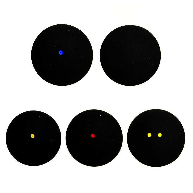 2pcs/lot Squash Ball  Blue Red Yellow Low Speed Sports Rubber Balls Black For Professional Player Training 4mm