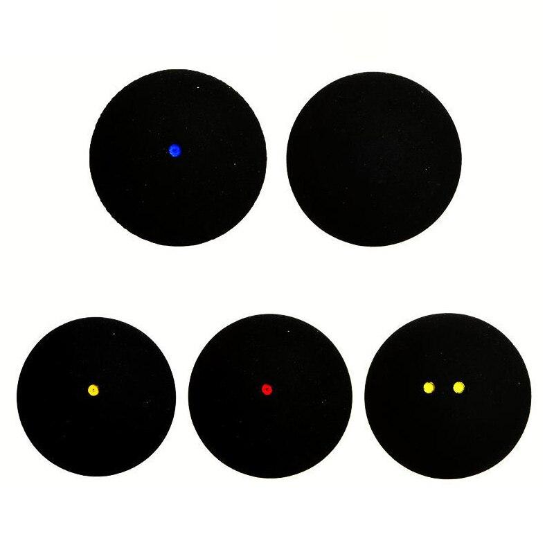 2 Teile/los Squash Ball Blau Rot Gelb Niedriger Geschwindigkeit Sport Gummi Bälle Schwarz Für Professionelle Spieler Ausbildung 4mm Einfach Und Leicht Zu Handhaben