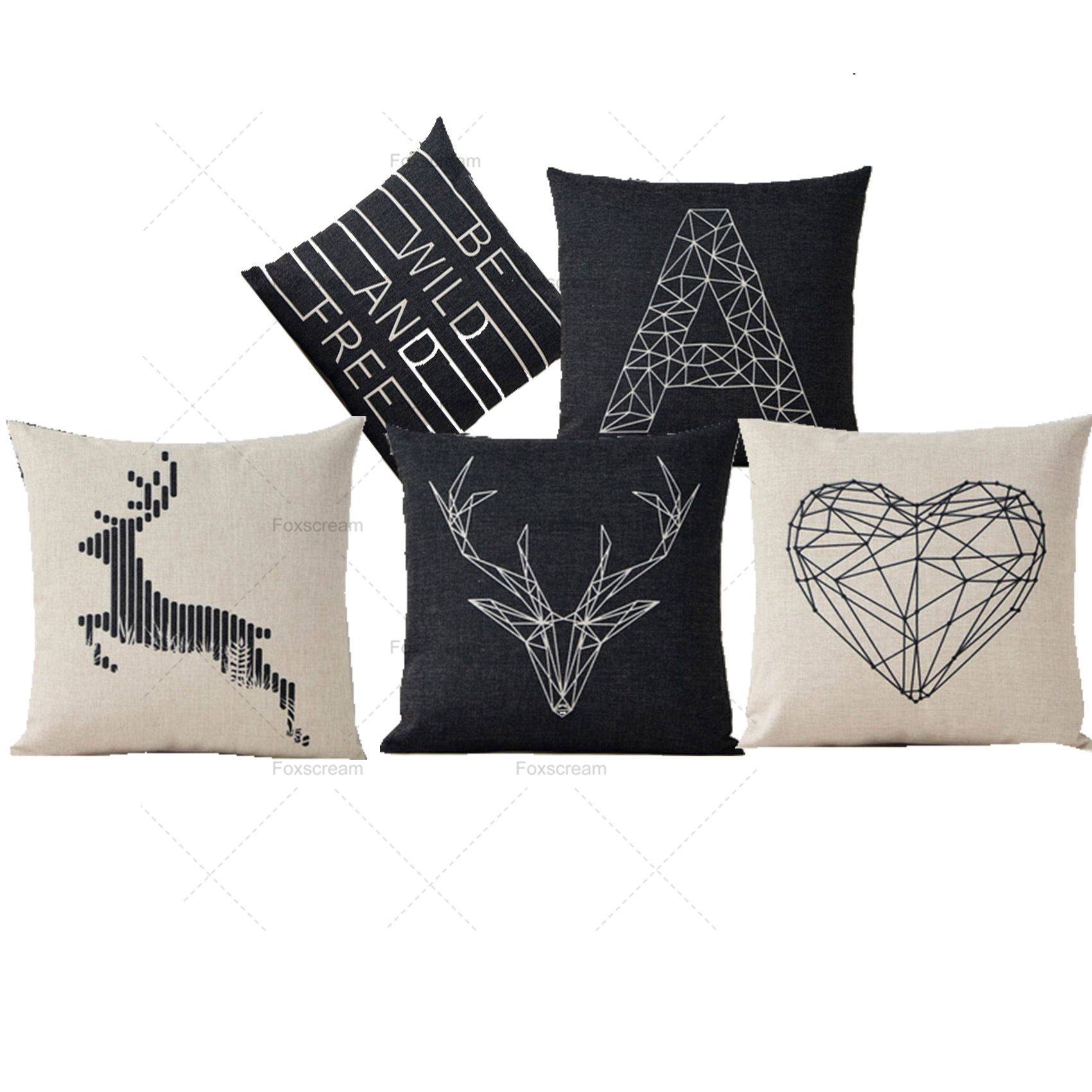 deer print bck diamond pillow collections domaci charcoal lumbar pillows iwil classic throw