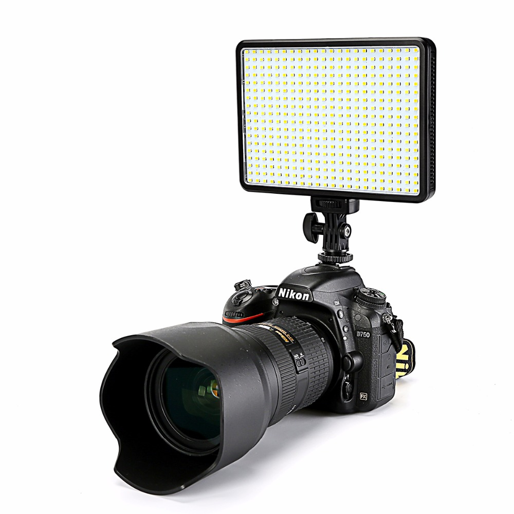 30 W 5600 K / 3200 K On-Camera 396 Bollen LED Video Licht Lamp Dimbare Fotografische Verlichting voor Canon Nikon Pentax DSLR Camera