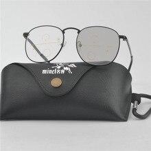 1f731bf050848 MINCL Transição Fotocromáticas Óculos de Sol Senhora Óculos de Leitura  Presbiopia Ultraleve Armações De Metal Homens Óculos Bifo.