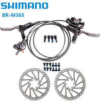 SHIMANO Bike Brake M365 Mountain MTB Bicycle Hydraulic Disc Brake Left & Right Lever 750/1350mm parts