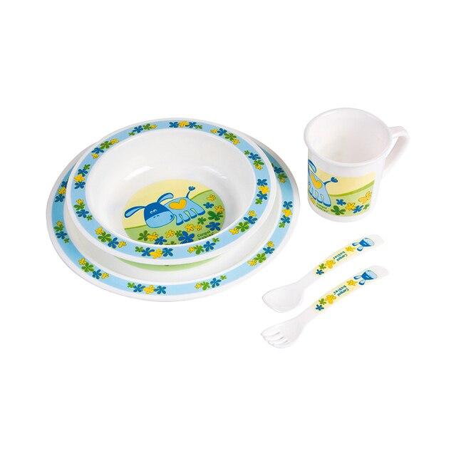 Набор Canpol обеденный пластиковый, 12+, цвет: голубой