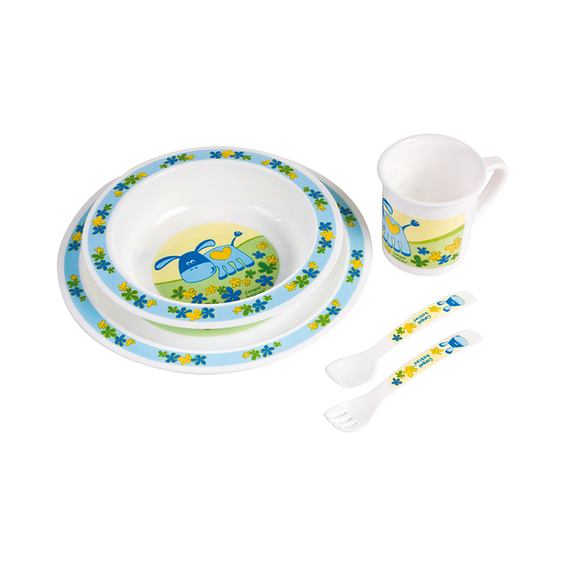 Dish Canpol Babies Plastic Dining Set Blue, 12 month + feedkid