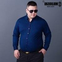 Plus 10XL 8XL 6XL 5XL 4XL New Arrived 2017 Mens Work Shirts Brand Long Sleeve Print