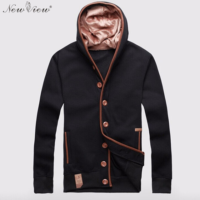 2017 Fashion Hoodies Men Sweatshirt Thick Fleece Warm Tracksuit Winter Autumn Black Off White Hoodie Mens Hip Hop Brand Clothing