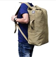 Military Tactical Canvas Backpack Men Male Big Army Bucket Bag Outdoor Sports Duffle Bag Travel Rucksack