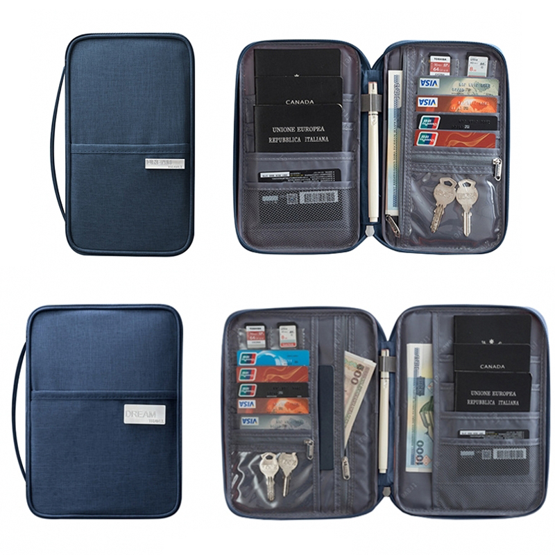 Large Travel Wallet Purse Organizer Cases Document ID Credit Card Cover Passports Bag Women Men Waterproof Passport Holders Bag