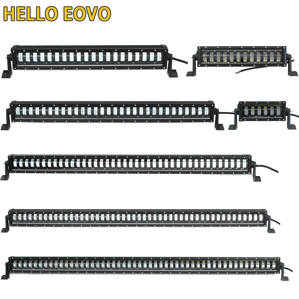 6D Lens 10 52 inch LED Bar Single Row Led Light Bar Work Light for 4x4