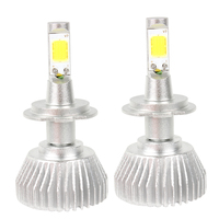 1 Pair COB All In One H7 Car LED Headlight Headlamp Head Light 4400LM 12V 6000K