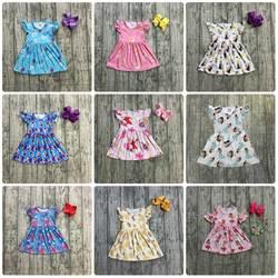 Новое поступление, летняя детская одежда для маленьких девочек, платье kenn с коротким рукавом, платье принцессы из молочного шелка