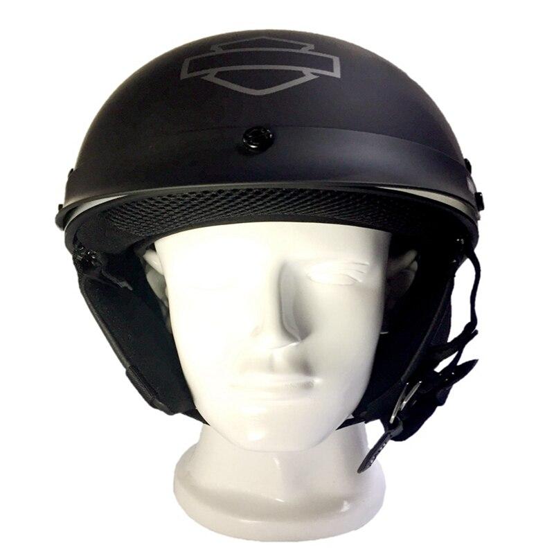 German Helmet 100% Original Retro Harley Motorcycle Helmet chopper Style Casco Fiberglass Material HL201 extremely light weight vintage helmet fiberglass shell free style novelty helmet japan style no more mushroon head
