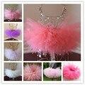 Милые Пушистые юбки балетной пачки девушки день рождения юбка наряды юбка партии MOQ 1 шт. девочек юбки танца юбка детская одежда