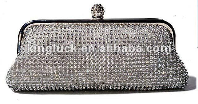 2016 oferta especial por tiempo limitado y sólidos moda de primera necesidad maquillaje organizador cosmético del bolso del Rhinestone de Bling noche bolso de embrague